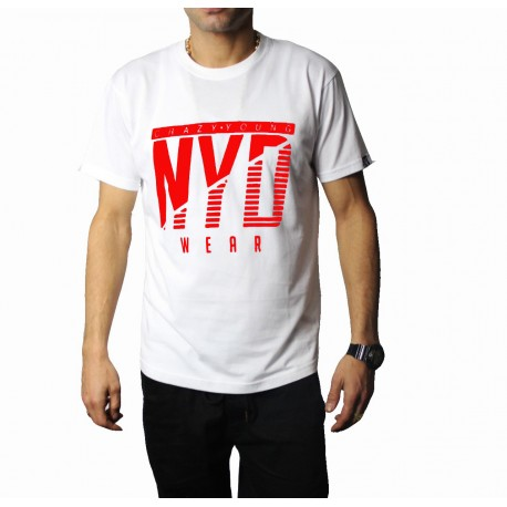 Camiseta NYD Icon White/Red
