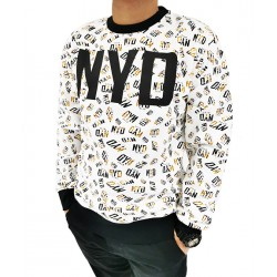 Sudadera Repeat White