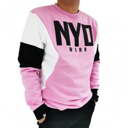 Sudadera Sudadera Three Color Lux Pink/White/Blk