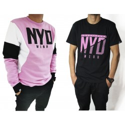 PACK Sudadera Sudadera Three Color Lux Pink/White/Blk + Camiseta NYD Icon Black/SoftRose
