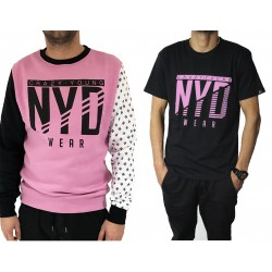 PACK Sudadera PINKNU Wht/Pink/Black + Camiseta NYD Icon Black/SoftRose