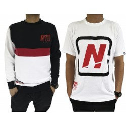 PACK Sudadera Sin LImites Black/Red + Camiseta Cubic Nyd White