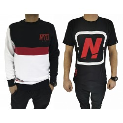 PACK Sudadera Sin LImites Black/Red + Camiseta Cubic Nyd Black